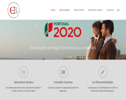 Homepage do website http://curador.pt/