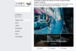 Screen shot do álbum do facebook onde decorrem as votações